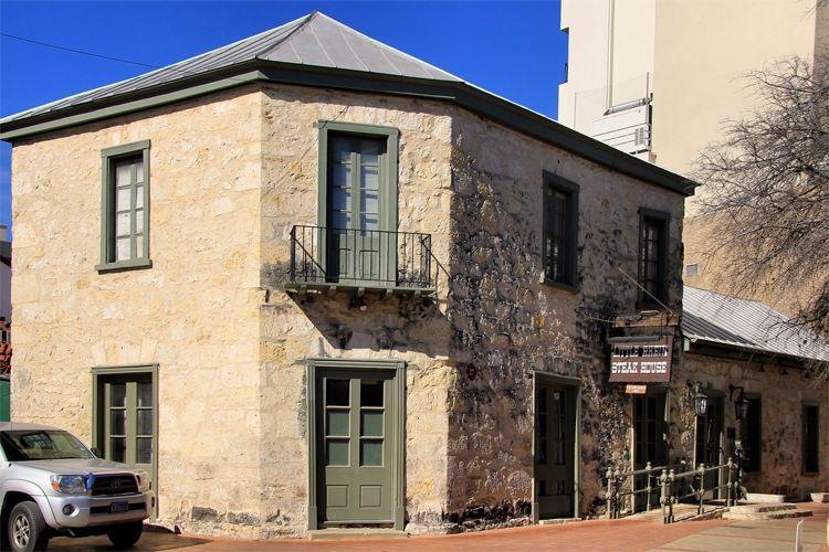 Bombach House, a limestone structure in La Villita